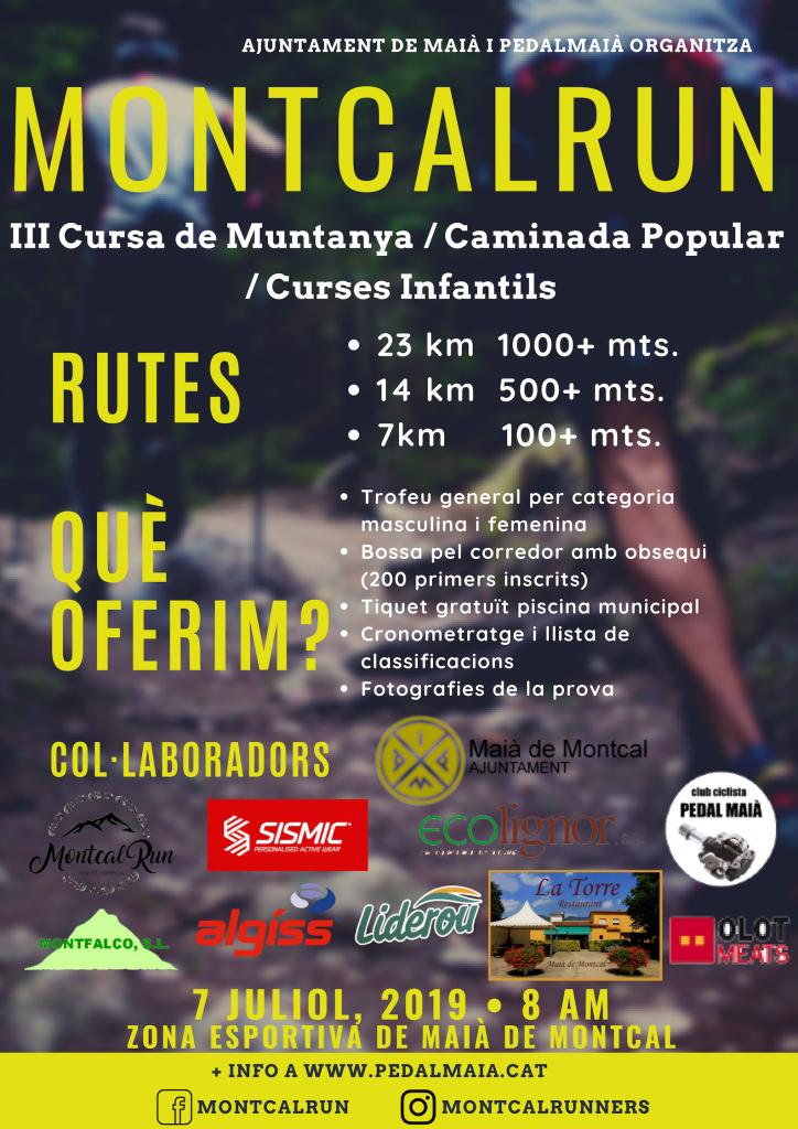Cartell cursa de muntanya MontcalRun