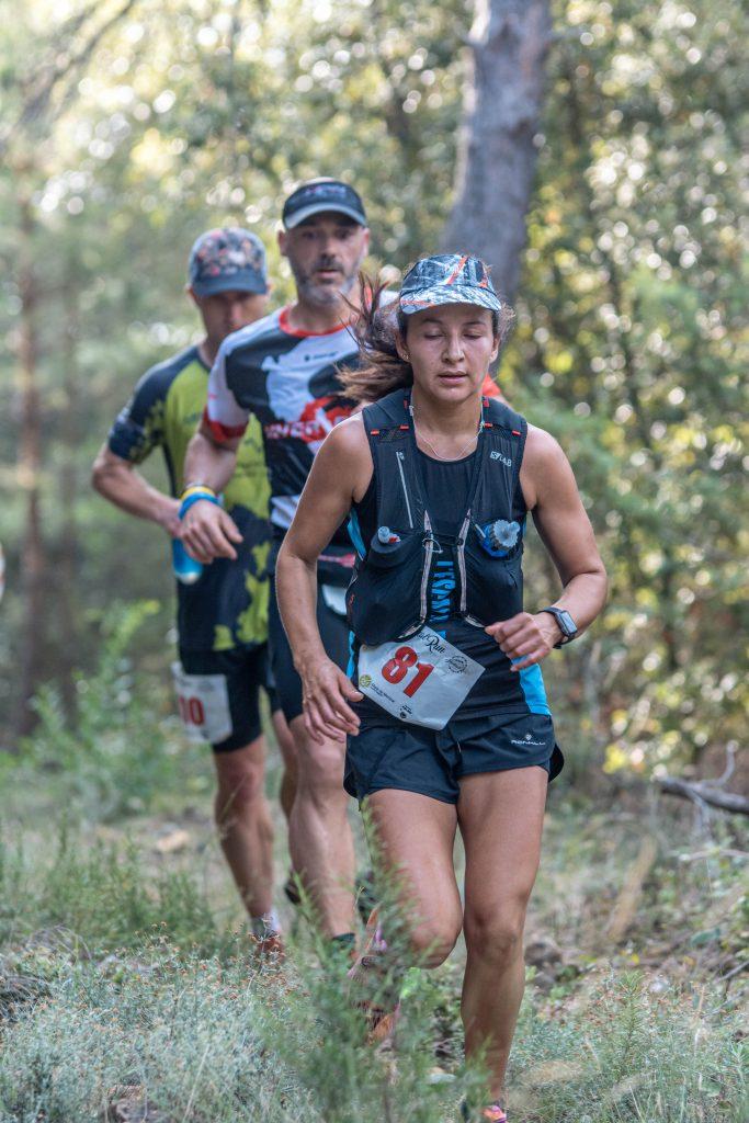 Corredors de la MontcalRun 2019 al pas per Falgars