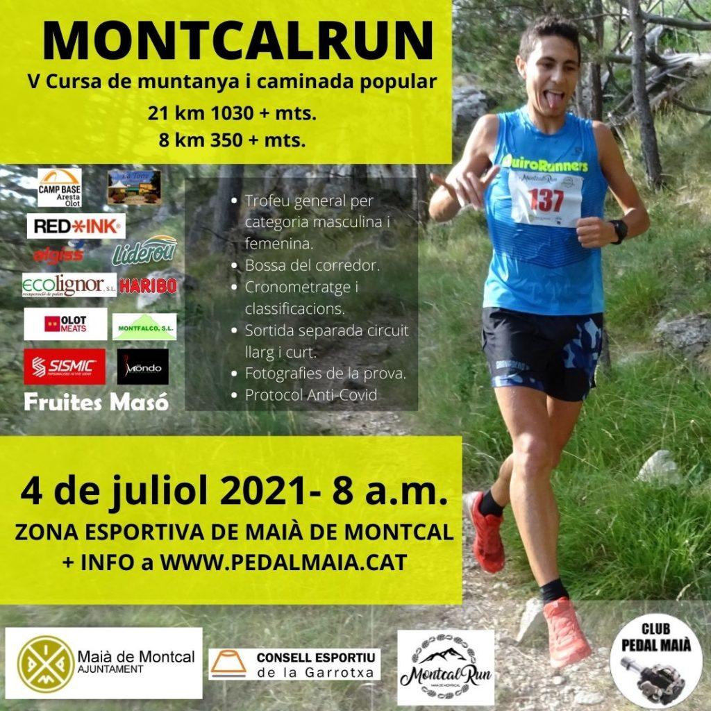 Cartell V cursa de Muntanya MontcalRun 2021