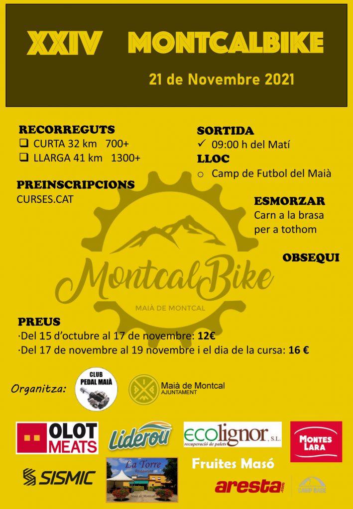 Cartell cursa de BTT Montcalbike